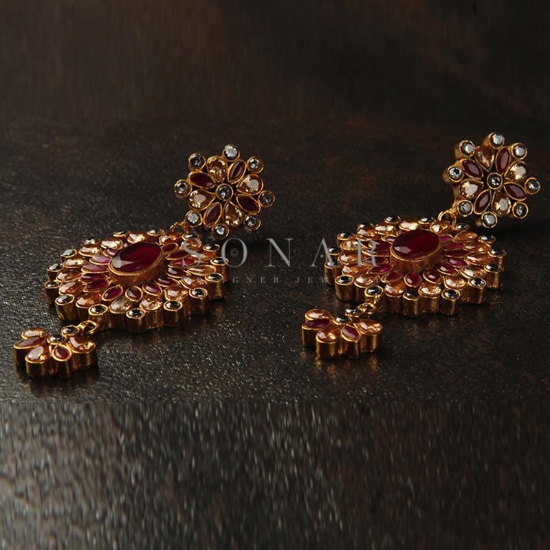 Ruby Polki Earrings